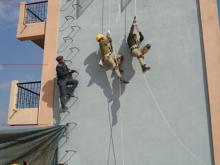 Abseiling practice