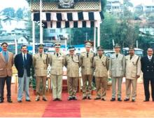 Officers of the Department posing for Photograph on Annual Day Parade Dec 2000 at the C.T.I Parade Ground.